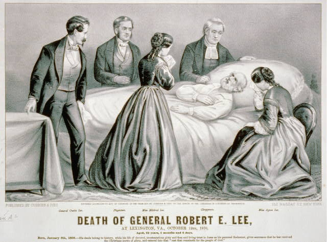 Death of General Robert E. Lee: At Lexington, Va., October 12th, 1870, aged, 62 years, 8 months and 6 days