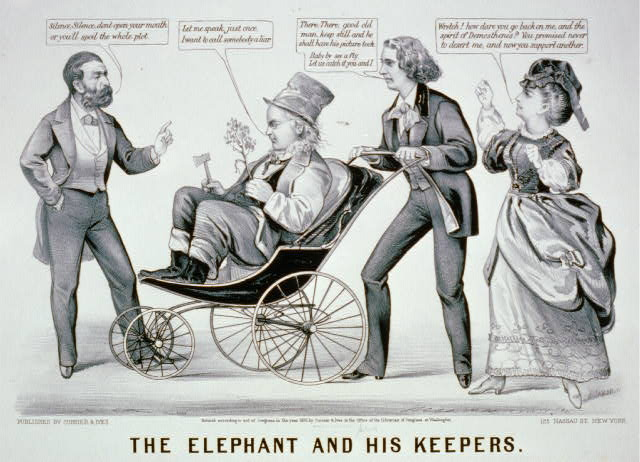 The elephant and his keepers