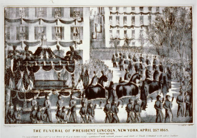 The funeral of president Lincoln, New York, April 25th 1865: passing union square