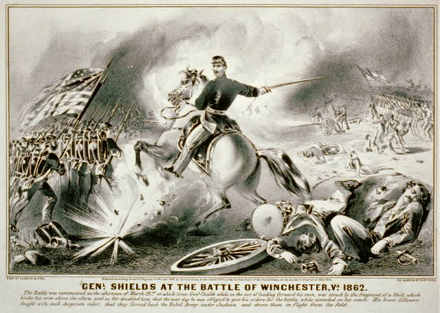 Genl. Shields at the battle of Winchester, Va. 1862
