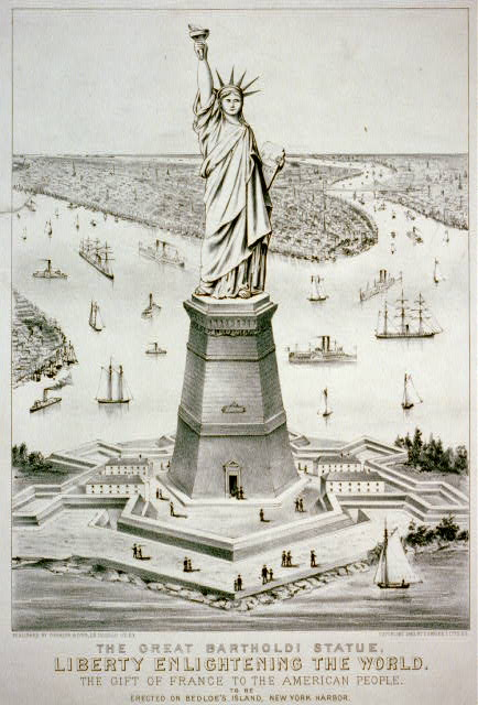 The great Bartholdi statue, Liberty enlightening the world--The gift of France to the American people