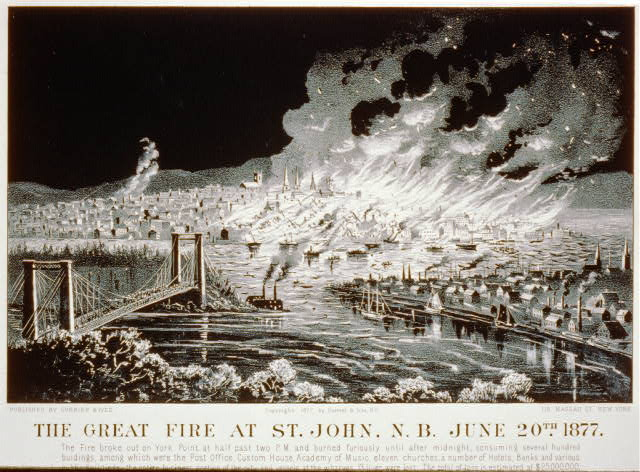 The great fire at St. John, N.B. June 20th 1877