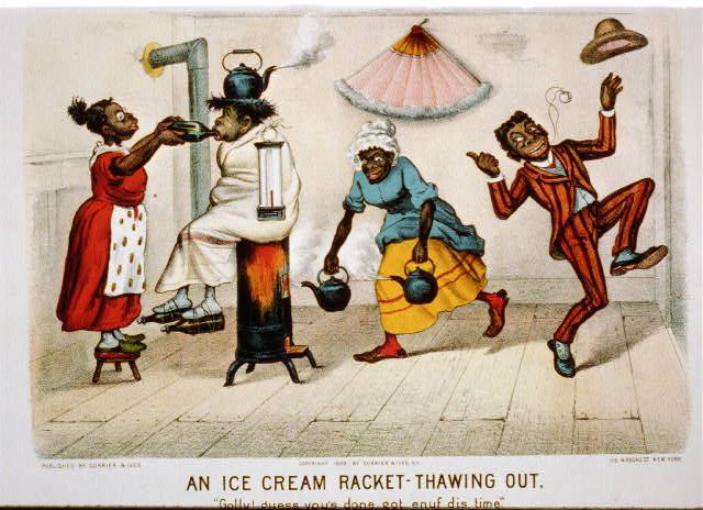 "An ice-cream racket--thawing out: ""golly! guess you's done got enuf dis time."""