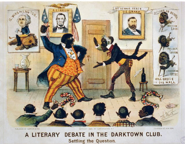 A literary debate in the Darktown Club--Settling the question