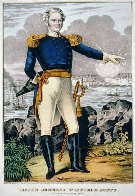 Major General Winfield Scott. At Vera Cruz March 25, 1847