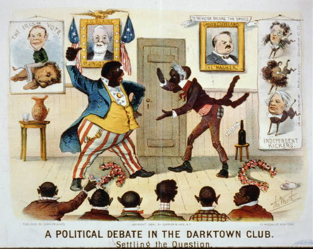A political debate in the darktown club: settling the question