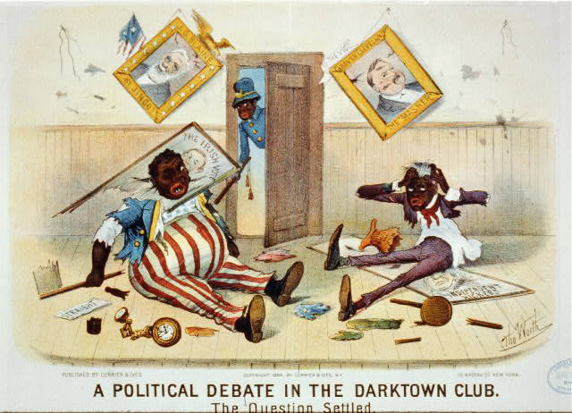 A political debate in the darktown club: the question settled
