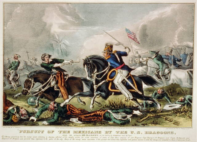 Pursuit of the Mexicans by the U.S. Dragoons: under the intrepid Col. Harney, at the Battle of Churubusco Aug. 20th 1847