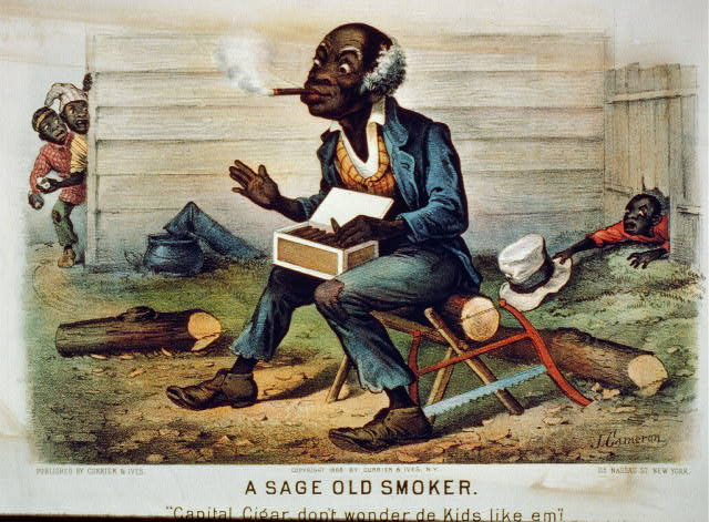 "A sage old smoker: ""Capital cigar, don't wonder de kids like em!"""
