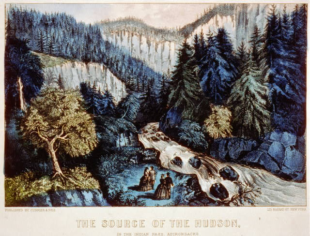 The source of the Hudson: in the Indian pass, Adirondacks