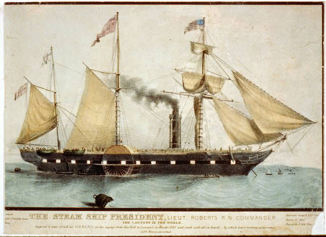 The steam ship President, Lieut. Roberts R.N. commander: the largest in the world