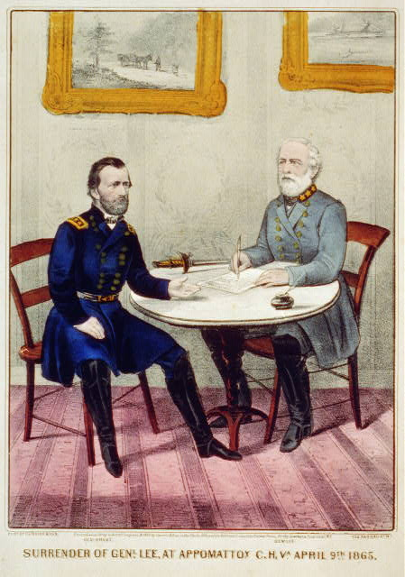 Surrender of Genl. Lee, at Appomattox C.H. Va. April 9th. 1865