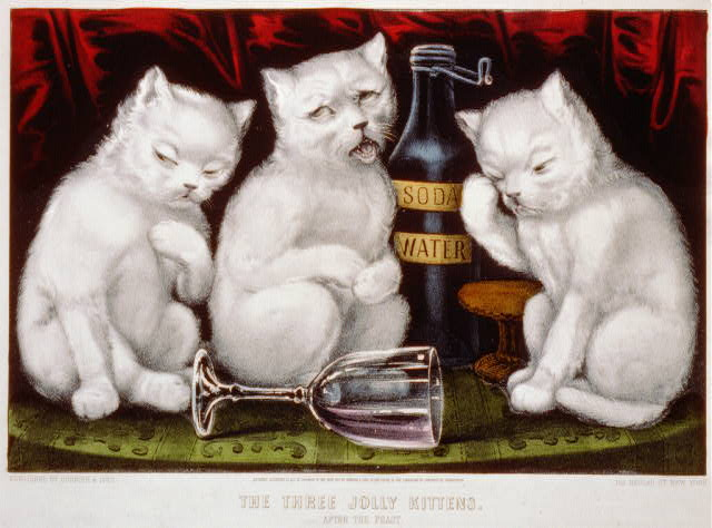 The three jolly kittens: after the feast