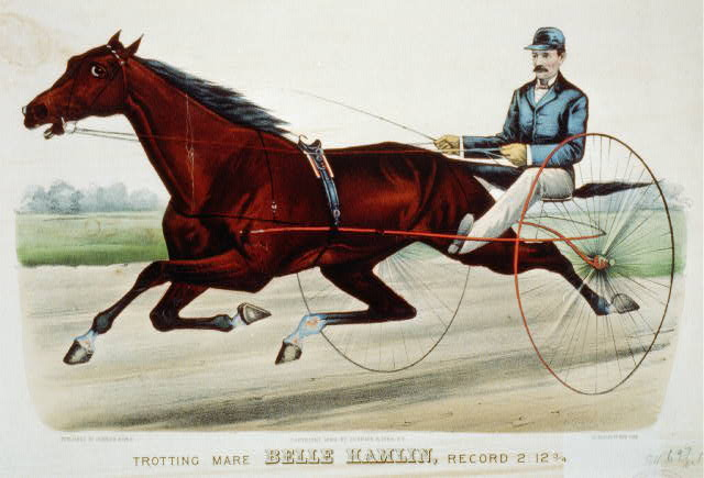 Trotting mare Belle Hamlin, record 2:12 3/4