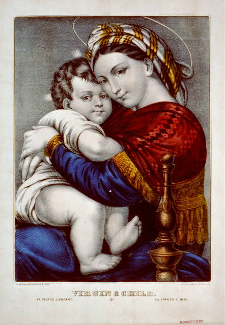Virgin & child: la vierge l enfant / la virgén e hijo