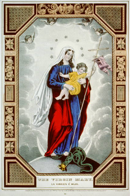 The virgin Mary: la virjen Maria / la sainte vierge