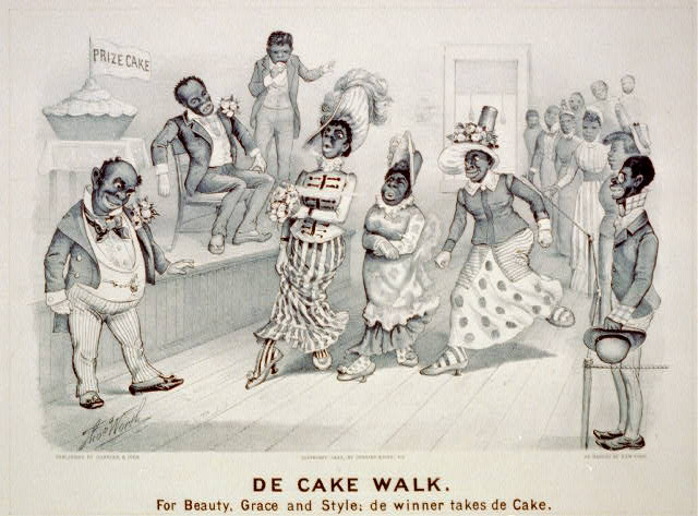 De cake walk: For beauty, grace and style; de winner takes de cake