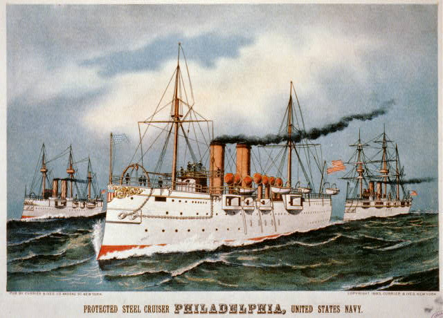 Protected steel cruiser Philadelphia, United States Navy