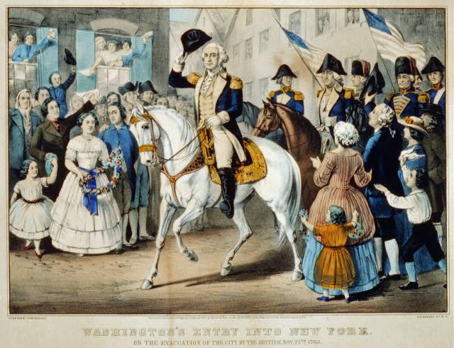 Washington's entry into New York: on the evacuation of the city by the British, Nov. 25th. 1783