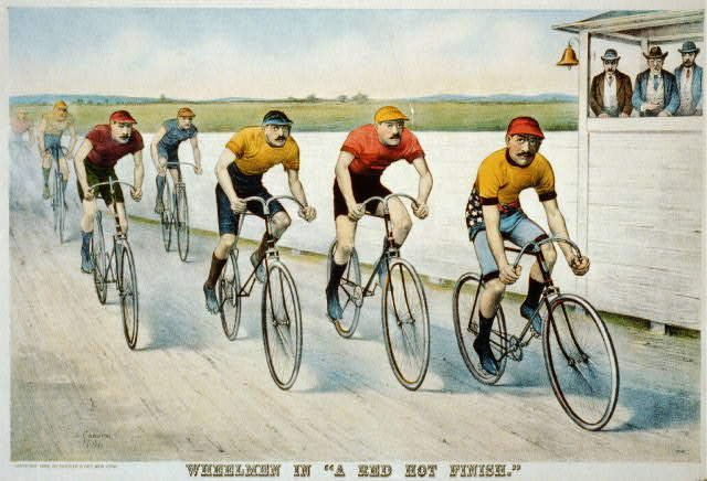 "Wheelmen in ""a red hot finish"""