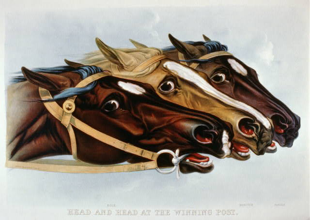 Head and head at the winning post