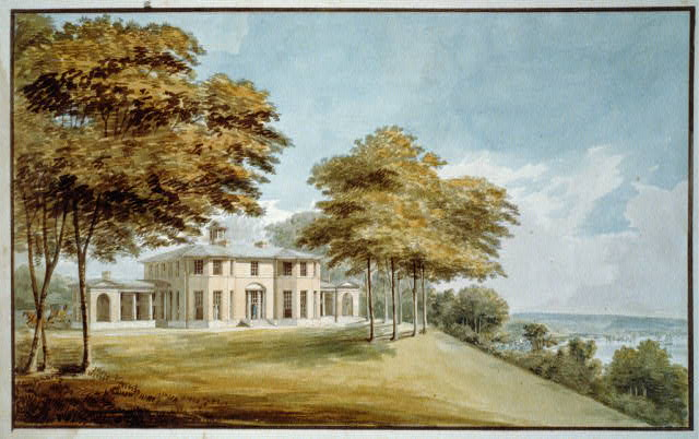 [House, Richmond, Virginia. Perspective rendering of house and landscape]