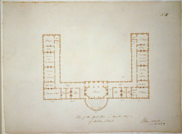 [Military academy. First floor plan or chamber story plan]
