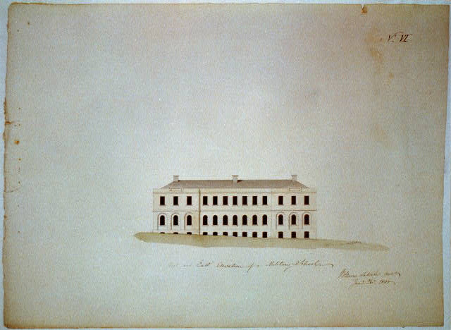 [Military academy. West and east elevation]