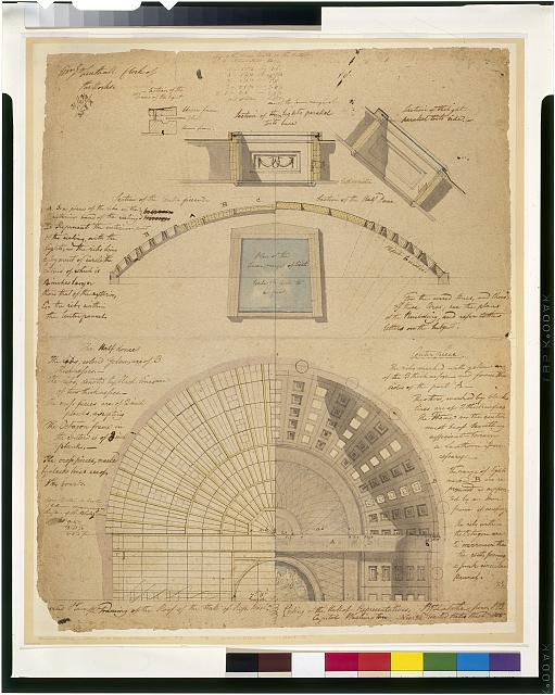 [United States Capitol, Washington, D.C. Framing & ceiling plan - Hall of Representatives]