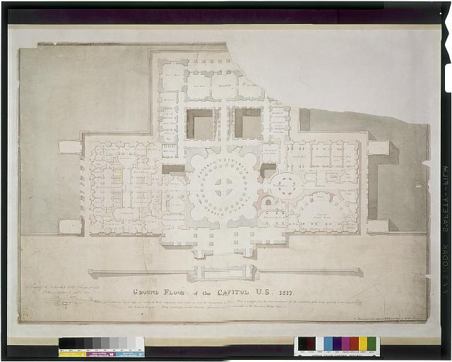 [United States Capitol, Washington, D.C. Floor plan, Supreme Court, vestibule - Judiciary]