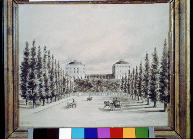[U.S. Capitol and Pennsylvania Avenue before 1814]