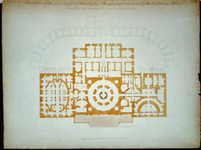 [United States Capitol, Washington, D.C. Foundation plan]