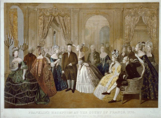 Franklin's reception at the court of France, 1778. Respectfully dedicated to the people of the United States