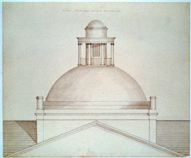 "[State capitol building (""Maine State House""), Augusta, Maine. Plan of octagonal drum]"