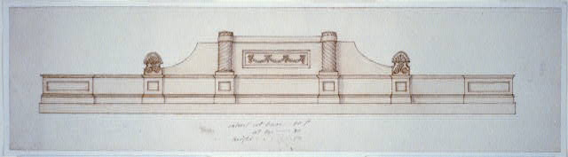 [Parapet. Elevation of parapet]