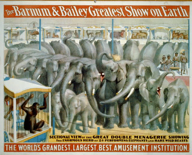The Barnum and Bailey greatest show on earth--The world's grandest, largest, best, amusement institution
