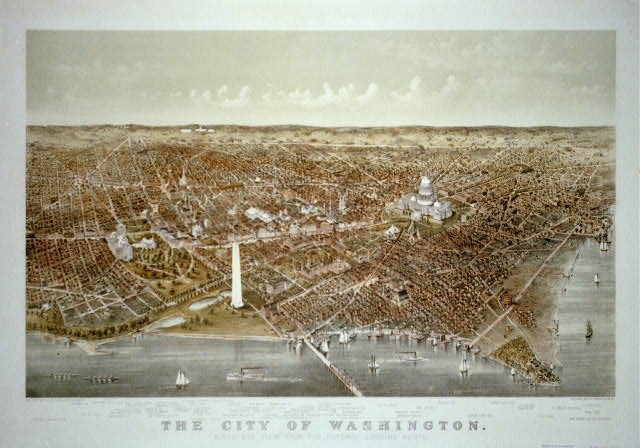 The City of Washington Birds-Eye view from the Potomac-looking North.