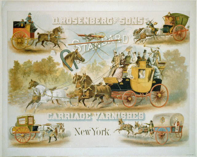 D. Rosenberg & Sons, standard carriage varnishes, New York