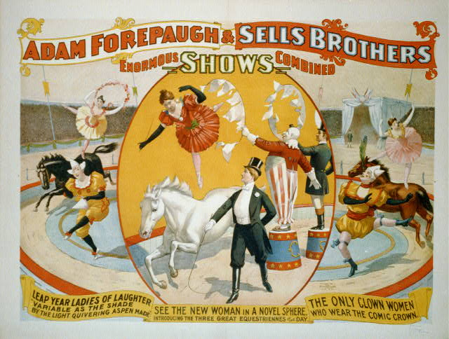 Adam Forepaugh & Sells Brothers enormous shows combined