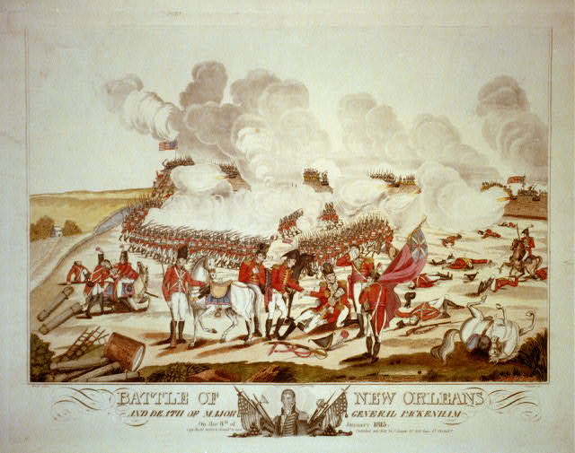 Battle of New Orleans and death of Major General Packenham [sic] on the 8th of January 1815