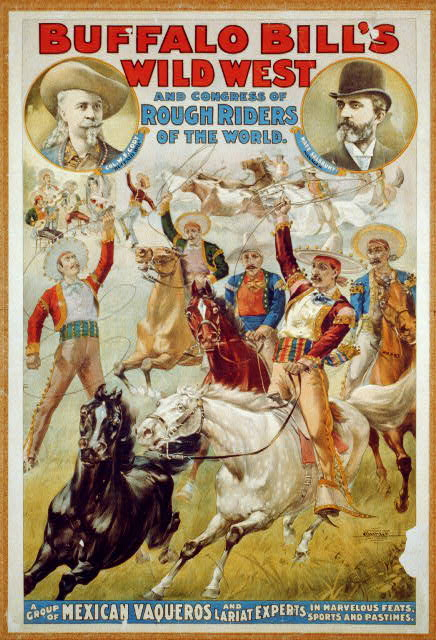 Buffalo Bill's Wild West and Congress of Rough Riders of the World. A Group of Mexican Vaqueros and Lariat Experts, ...