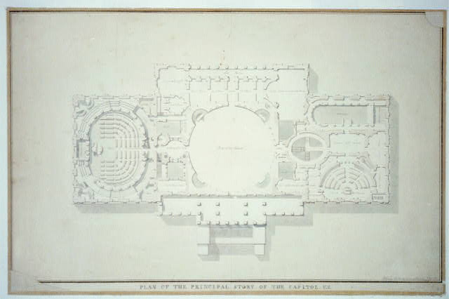 [United States Capitol, Washington, D.C. Plan of principal story and chambers]