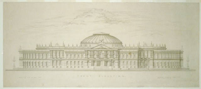 [Library of Congress, Washington, D.C. Front elevation rendering]