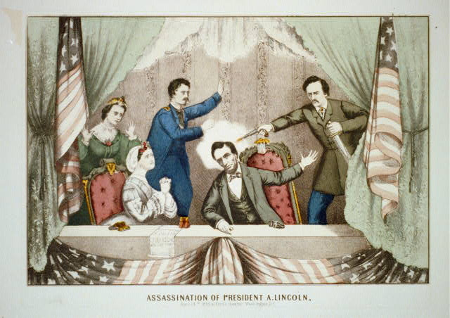 Assassination of President A. Lincoln, April 14th 1865 at Ford's theater, Washington, D.C.