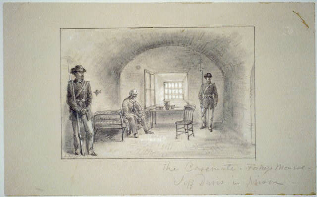 The casemate, Fortress Monroe, Jeff Davis in prison