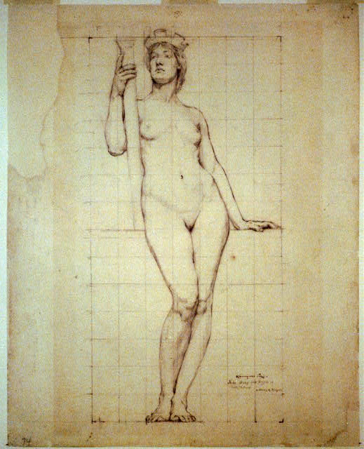 Nude study for figure of Architecture, Library of Congress1.