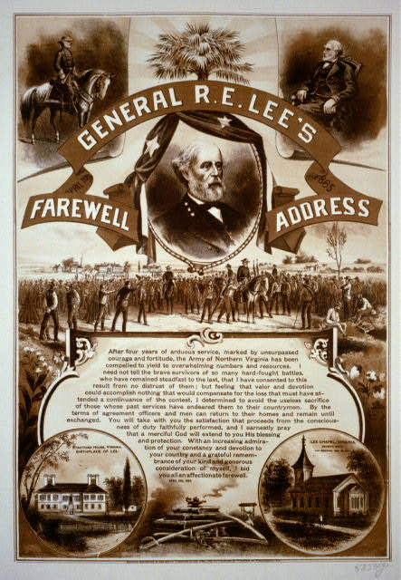 General R.E. Lee's farewell address