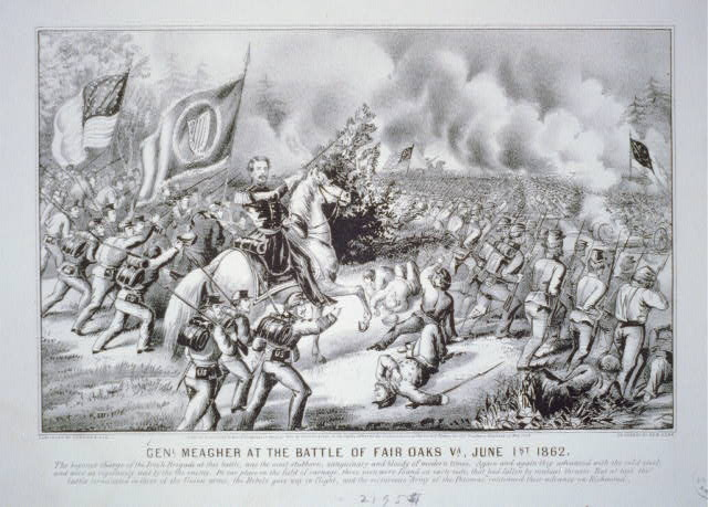 Genl. Meagher at the Battle of Fair Oaks Va., June 1st 1862
