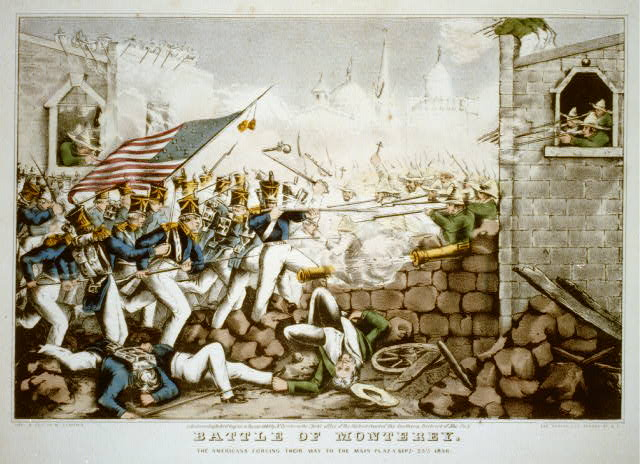 Battle of Monterey--The Americans forcing their way to the main plaza Sept. 23th 1846