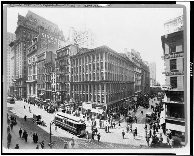 Broadway, Cortdland [i.e., Cortlandt] to Liberty St.